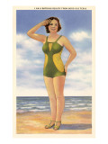 I am a Bathing Beauty from Good Old Texas Posters