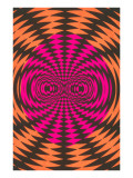 Op Art Psychedelic Pattern Posters