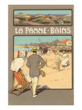 La Panne-Bains, Tennis on Beach Print