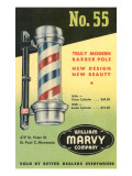 Barber Pole Advetisement Pôsters
