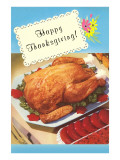 Happy Thanksgiving, Cooked Turkey Poster
