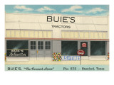 Buie's Tractors, Stamford, Texas Print