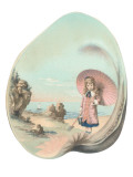 Victorian Girl in Seashell Print