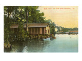 Bath House on River, Houston, Texas Prints