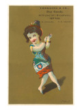 Victorian Dancing Girl Poster