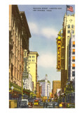 Houston Street, San Antonio, Texas Print