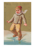 Young Boy at Edge of Ice Poster