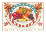 Happy Thanksgiving Fruits Posters
