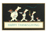 Happy Thanksgiving, Procession of Chefs Art