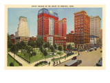 Court Square, Memphis, Tennessee Posters