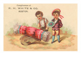 Victorian Children with Wheelbarrow Photo