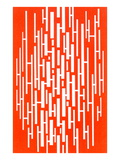 Red and White Random Vertical Stripes Prints