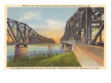 Memphis and Harahan Bridges, Memphis, Tennessee Print
