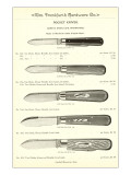 Advertisement for Pocket Knives Prints