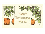 Hearty Wishes, Art Deco Pumpkins Art