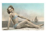 Bathing Beauty on Shore Posters