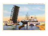Bascule Bridge, Corpus Christi, Texas Print