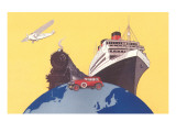 Train, Ship, Airplane, Car Posters