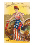 Greetings, Columbia with Turkeys Posters