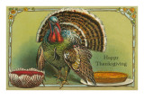 Turkey with Punch and Pumpkin Pie Prints