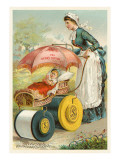 Nursemaid Wheeling Pram Prints