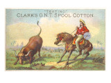 Vaquero Steer Roping with Clark's Thread Posters