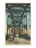 Steel Bridge, Waco, Texas Posters