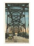 Steel Bridge, Waco, Texas Prints