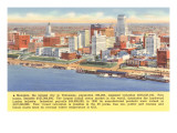 View of Memphis, Tennessee, with Facts Print