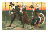 Greetings, Pilgrims Carrying Food Posters