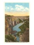Castle Canyon, Devil's River, Texas Poster