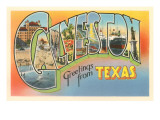 Greetings from Galveston, Texas Posters