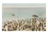 Early Beach Scene Print