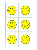 Six Yellow Happy Faces Prints