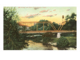 Mill Bridge, San Antonio, Texas Prints
