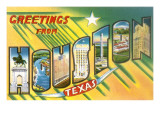 Greetings from Houston, Texas Posters