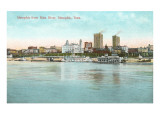 Memphis from the Mississippi River, Tennessee Posters