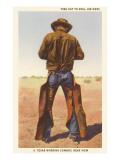 Cowboy Rolling Cigarette Prints