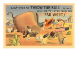 Can't Stop to Throw the Bull, Cartoon Art