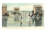 Calais, Bathing Machines at Shore Posters