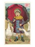 Swans Steal Child's Cracker Prints