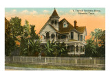 Typical Southern Home, Houston, Texas Prints