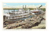 Levee Scene, Memphis, Tennessee Poster