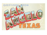 Greetings from San Angelo, Texas Prints