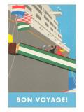Bon Voyage, Ocean Liner, Graphics Posters