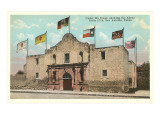 Six Flags on the Alamo, San Antonio, Texas Posters