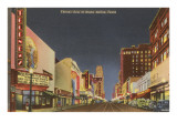 Night, Theatre Row, Dallas, Texas Posters