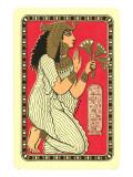 Mujer egipcia con flores de loto Arte