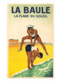French Leap-Frog on the Beach Poster