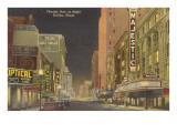 Night, Theatre Row, Dallas, Texas Poster